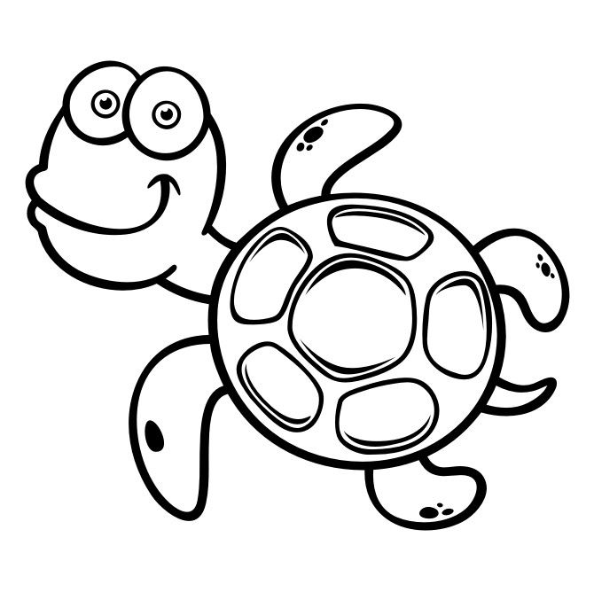 Schildpad cartoon muursticker raamsticker