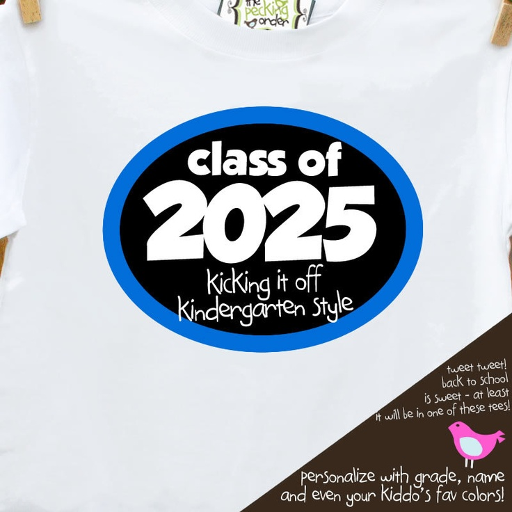 Personalized childrens class of 2026 boy back to school Tshirt