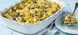 Ovenschotel met kip en spinazie