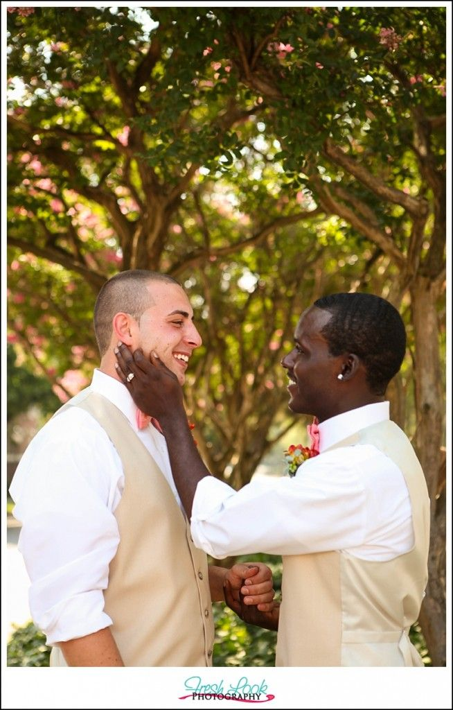 same sex wedding, wedding day, all you need is love, gay men posing ideas, wedding inspiration, love is love, stylized wedding shoot, Cherry Blossom Weddings, flower details, ring thing, Press 626 Cafe and Wine Bar, Just Married