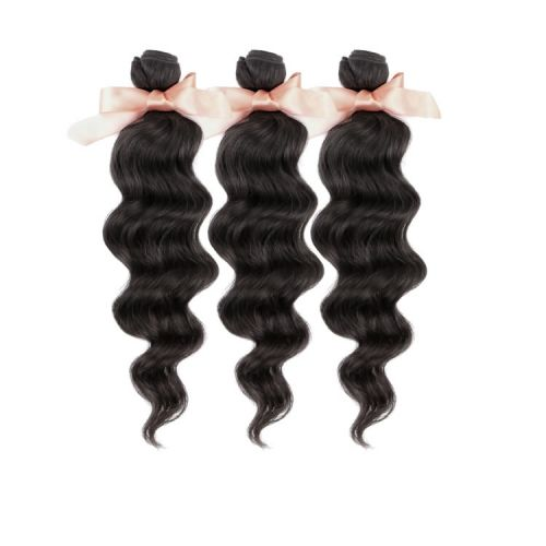 Malaysian Virgin Remy Hair Extensions Loose Wave Hair 3 Bundles 12-32 inch 100g Natural Black Factory Price On Sale