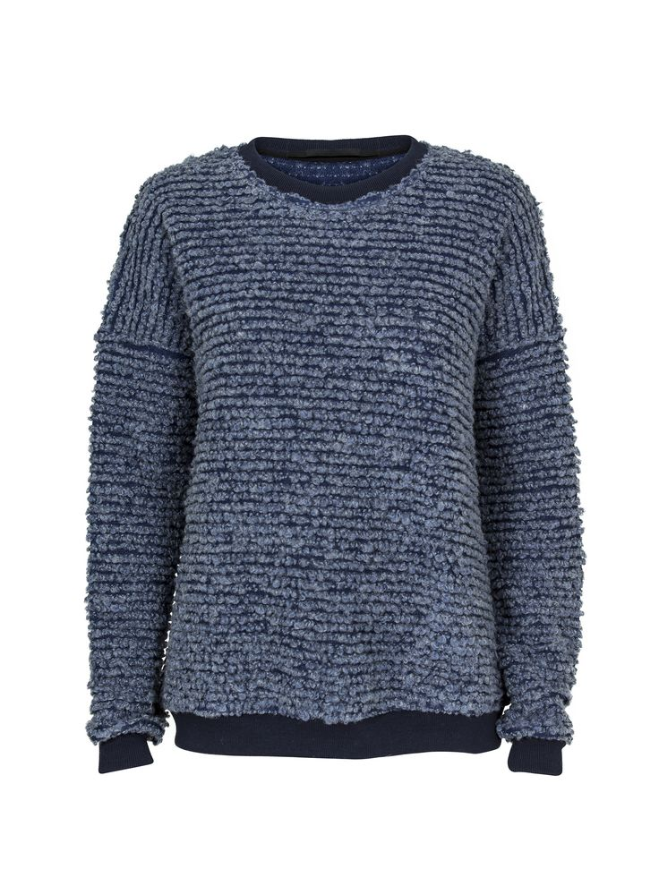 JUST FEMALE AW 2014 // BLUE KNITTED BLOUSE