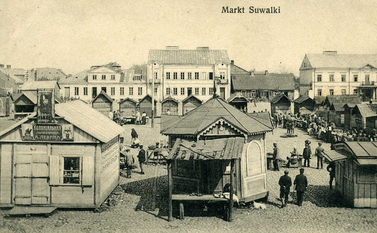 """Markt Suwalki"" (Suwalki marketplace). Unused ca 1915."