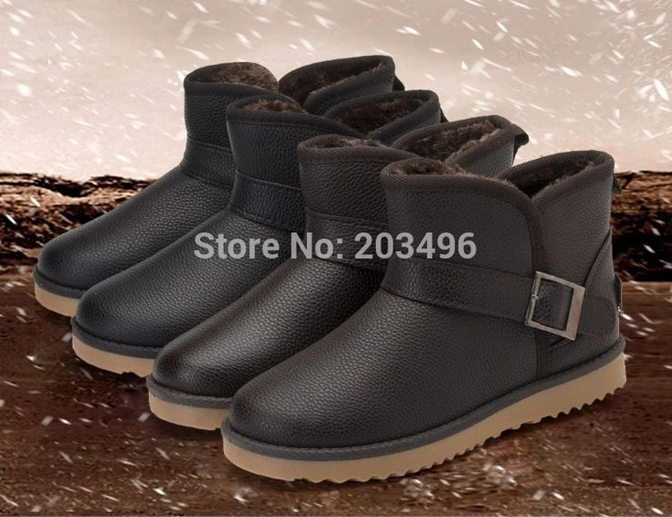 Faux Wool Warm Men's Winter Snow Boots Shoes Waterproof Size 39-44