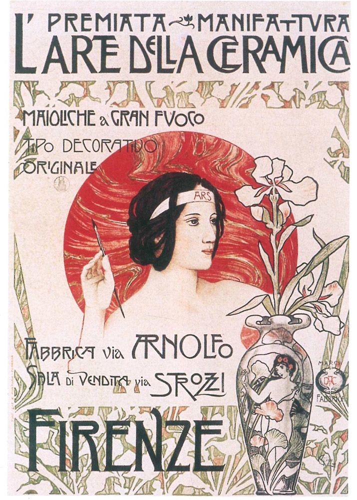 Manifesto - L'Arte della Ceramica viene fondata a Firenze sul finire del 1896. www.museochini.it
