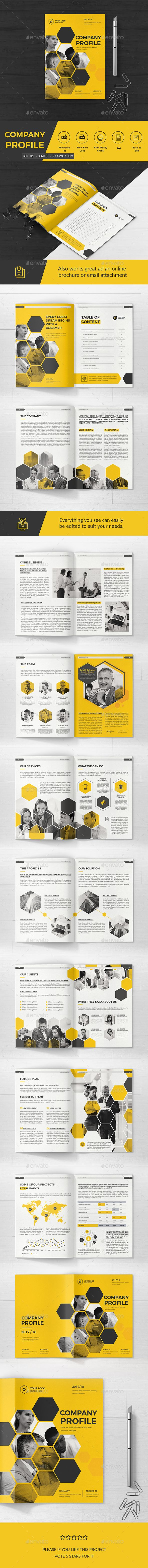 Company Profile — Photoshop PSD #company #professional • Download ➝ https://graphicriver.net/item/company-profile/20419479?ref=pxcr