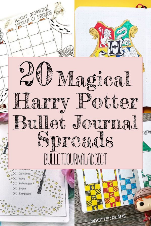Bullet Journal Addict 20 Harry Potter Doodles And Spreads Even Muggles Will Love Bullet Journal Bullet Journal Themes Harry Potter Planner
