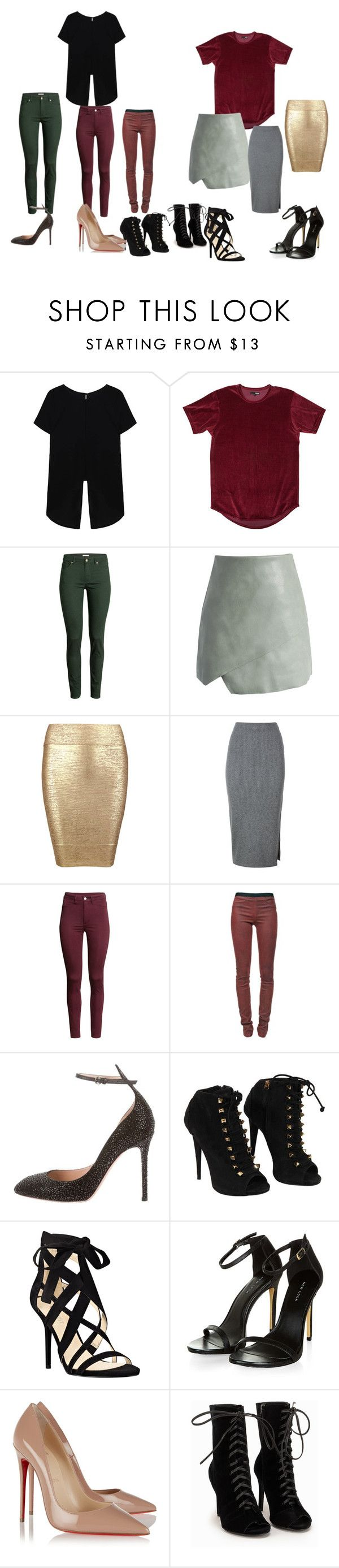 """""""Untitled #99"""" by rosesanders on Polyvore featuring H&M, Chicwish, Posh Girl, Whistles, Helmut Lang, Valentino, Giuseppe Zanotti, Nine West and Christian Louboutin"""