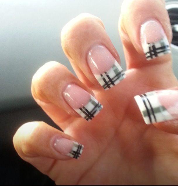 Plaid Nails Profilescapecflorida