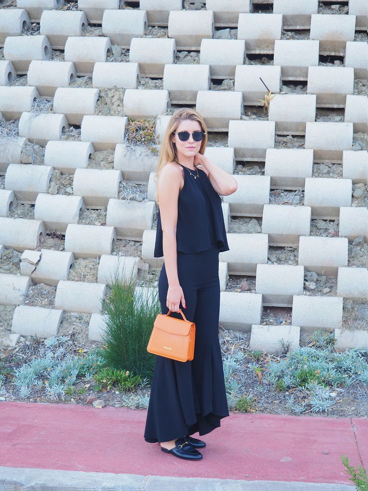 Ana Vera with Gucci loafers and Vera Blonde orange bag www.avrsthings.com