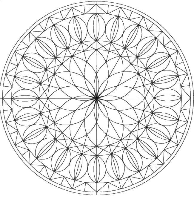 Круглый цветок | Рисунки для раскрашивания, Раскраски ...