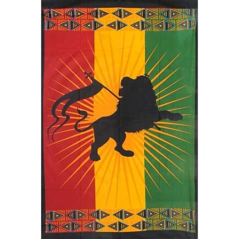 Rasta Lion Tapestry - The Hippie House