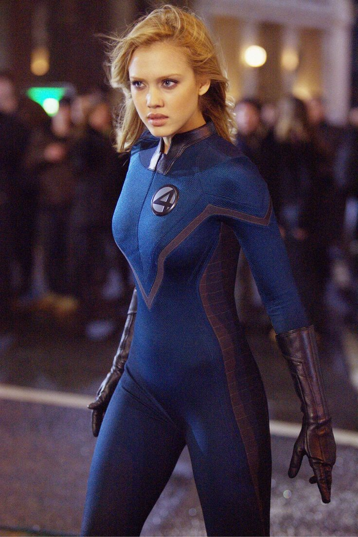 Invisible Woman played by Jessica Alba in The Fantastic Four