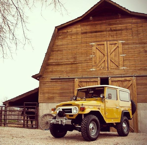 Kind of like the combination of the barn and the FJ40 land cruiser....I would like to own both some day....