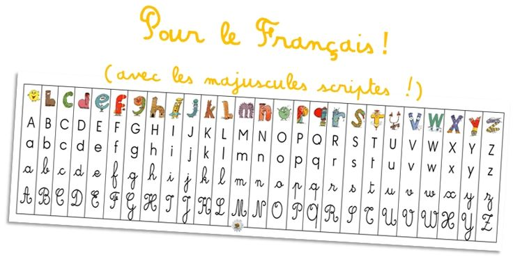 P'tites fiches d'aide pour le début d'année CP en Français (avec les majuscules scriptes en plus !) ~ Elau