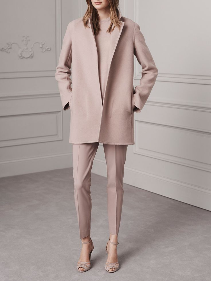 Head-to-toe blush at Ralph Lauren pre-fall