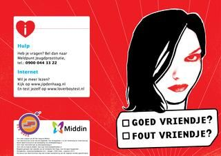 Goed of fout vriendje folder okt 2013 - Materiaal over loverboys en gedwongen prostitutie voor meiden met een licht verstandelijke beperking (LVG).