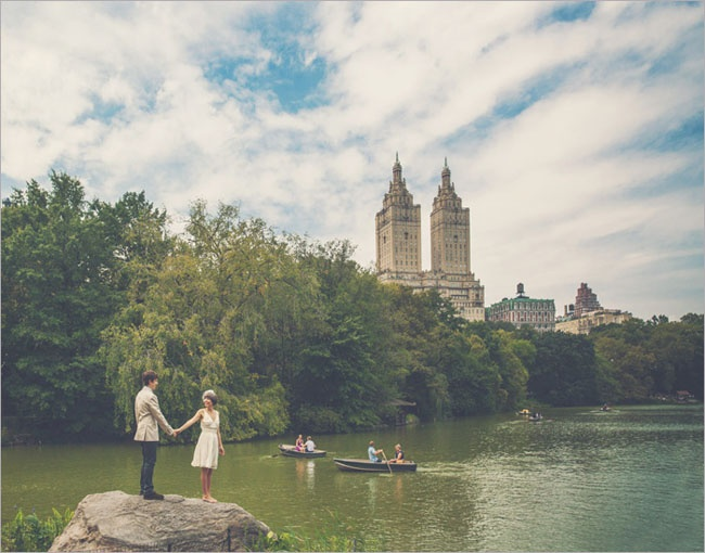 wedding in central park