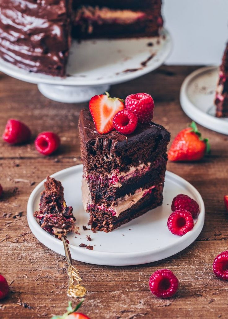 Gâteau Au Chocolat Aux Framboises – Vegan   – Vegan food