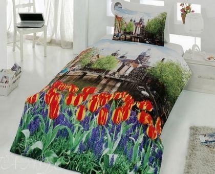 Купить постельное белье из ранфорса ПОЛЕ ТЮЛЬПАНОВ 3D Digital 1,5-сп от производителя Virginia Secret (Турция)
