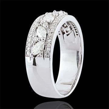 Bague Destinée - Byzantine - or blanc et diamants - 18 carats : bijoux Edenly
