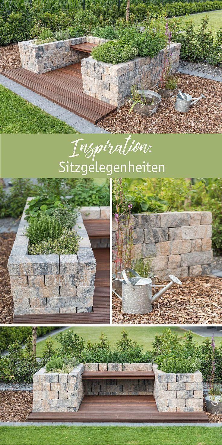 Garten Inspiration Sitzgelegenheiten Aus Mauersteinen Mit Der Aus Der Garten Inspiration Mauerst In 2020 Garden Seating Garden Sitting Areas Garden Beds