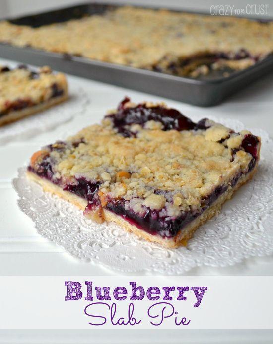 Blueberry Slab Pie !!
