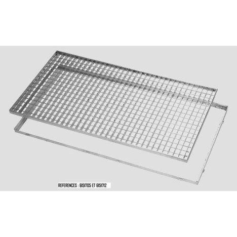 Cadre pour grille caillebotis galvanisé 80x50 mm MEA