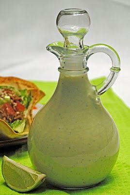Creamy Cilantro Tomatillo Salad Dressing | Salads | Pinterest
