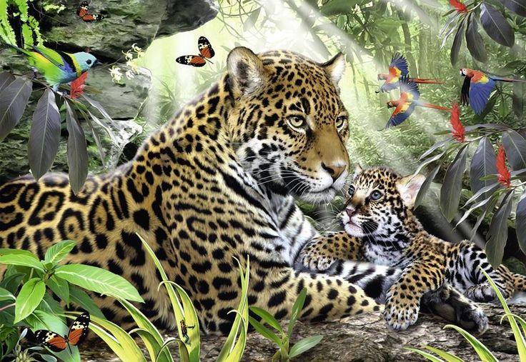Puslespil med Jaguarer 500 brikker