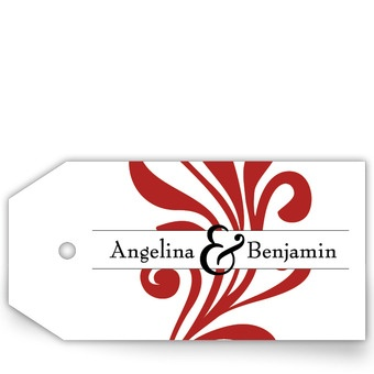Wedding Favor Tags - Signature of Love | Personalize with your colors, font, and text!Wedding Favors Tags, Wedding Favor Tags