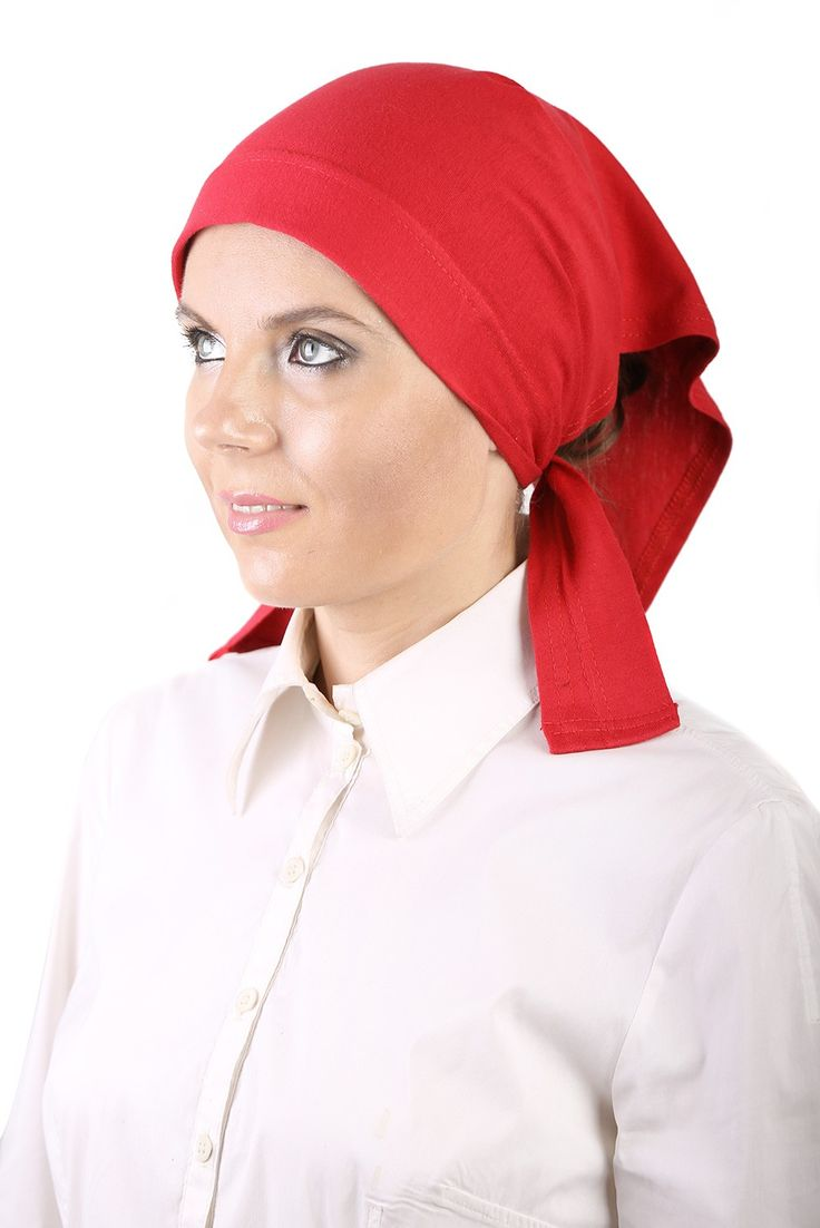 Egyptian Cotton Kerchief in Red! Absolutely stunning! #headscarves #cancerpatients #headcovers