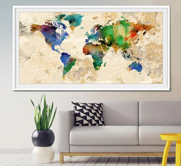 20 best extra large wall art world map images on pinterest maps world map world map print large world map watercolor map travel map gumiabroncs Choice Image