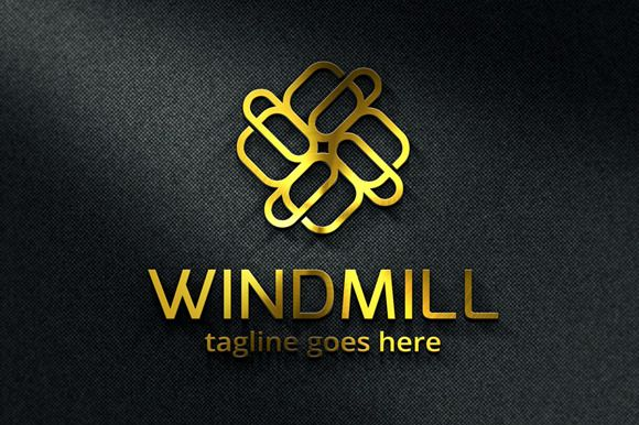 Windmill Abstract Logo Template by gunaonedesign on Creative Market