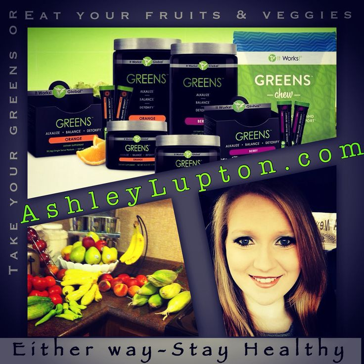 Take your Greens or Eat your fruits & veggies. Either way-stay healthy! Order your greens today at AshleyLupton.com