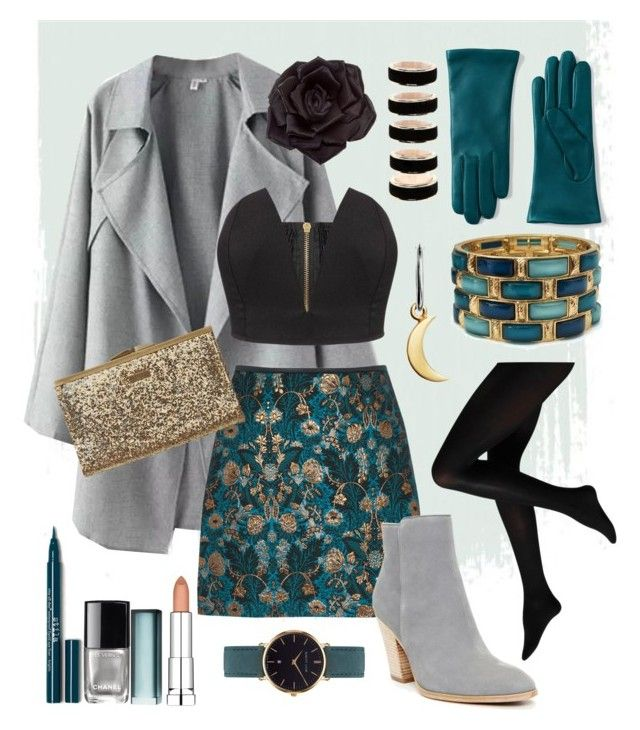 Outfit #2 by anakhai on Polyvore featuring polyvore fashion style Donald J Pliner Element Johnny Loves Rosie Abbott Lyon Forever 21 Lands' End Maybelline Chanel clothing