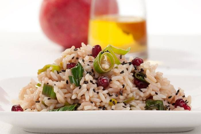Risotto porri e melograno #Star #riso #porri #melograno #ricette #food #recipes