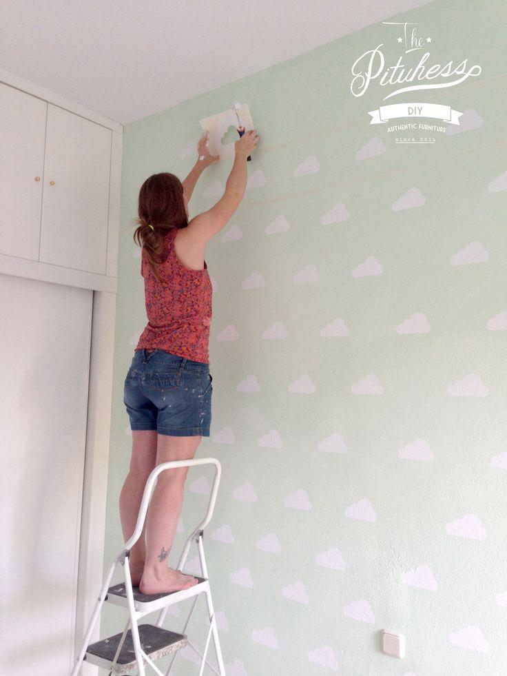 Como pintar las paredes de los ni os y que parezca papel - Como quitar papel pintado de la pared ...