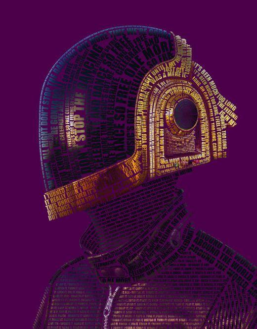 Daft Punk Type poster. Awesome!