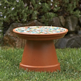 Girl Scouts craft - Mosaic Birdbath