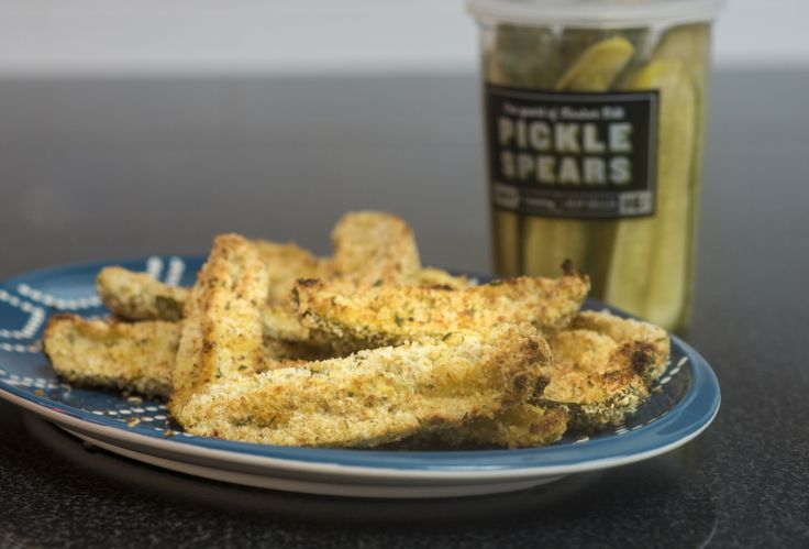 Jimmy John's Oven Fried Pickle Spears. Perfect appetizer for the Sunday Football Game that cannot be named!   If you haven't heard, Jimmy John's Pickles are a pretty big dill  and the only way to make them better than Mother Nature did is by covering them in carbs and dipping 'em in ranch. (It's true.)