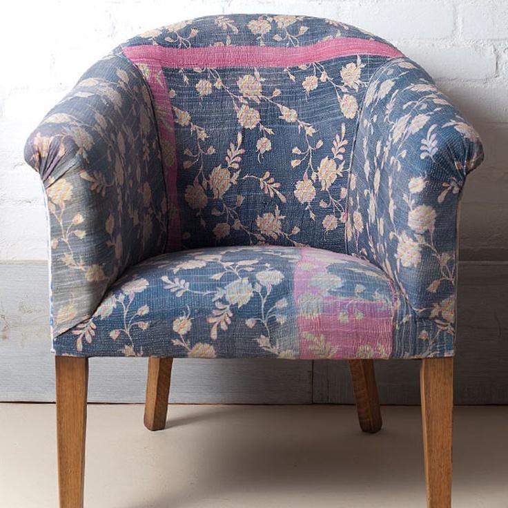 Kantha Club Chair