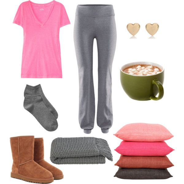 """Pyjama Party / Movie Night Outfit"" by natihasi on Polyvore"