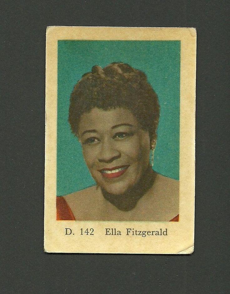 Ella Fitzgerald Jazz Vintage 1960s Swedish Collector Card #D142