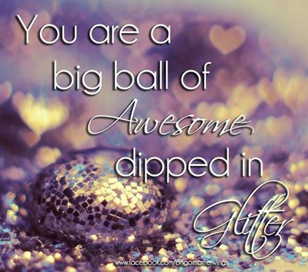 You are a big ball of awesome dipped in glitter!  Cause we love essential oils, we use aromatherapy massage oil blends in all our massages!  www.ripplemassage.com.au #massage #dayspa #beauty #couplesmassage #inhomemassage #mobilemassage #awesome #glitter #love #reflexology #essentialoils #aromatherapy #massageoil #massageoil