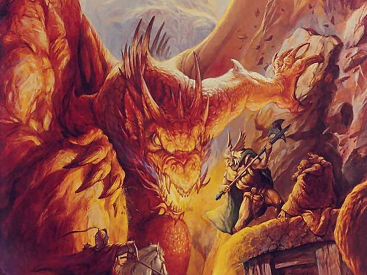 Dungeons and Dragons   I loved dragons after I saw this picture when I was 10