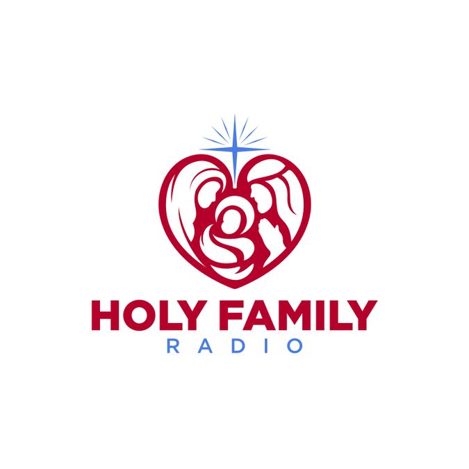 Create a cool logo for a Catholic radio station by guinandra