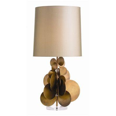 "Affordable version of Herve Van Der Straeten design: Garvey 30.5"" H Table Lamp with Drum Shade"