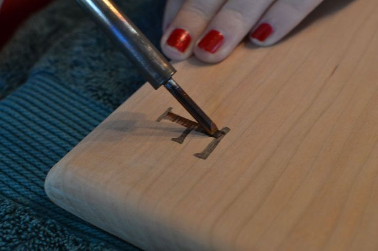 Branding Wood with Soldering Iron