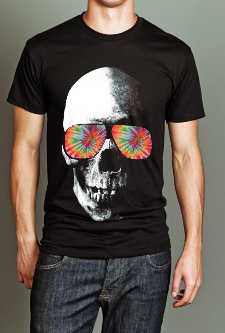 Black light t shirt ideas - Porch Light Trippy Skull T Shirt
